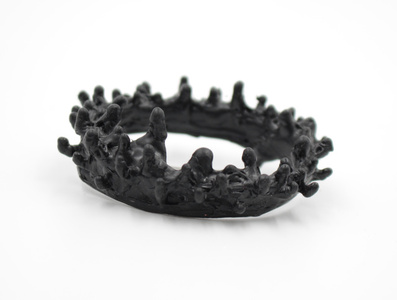 Rubber Anemone Brooch (Black)