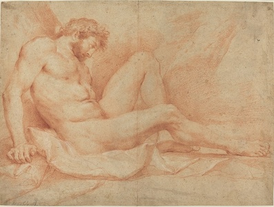 Academic Nude Study of a Seated Male