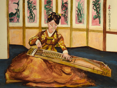 Asian Woman Playing Music III
