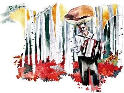 Mushroom-accordionist II