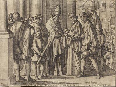 Philip as a Boy Before Margaret of Austria [verso]