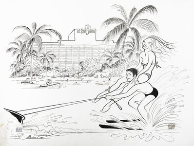 WATER-SKIING AT THE EL SAN JUAN HOTEL