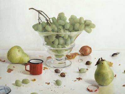 Grapes with Two Pears and Red Cup
