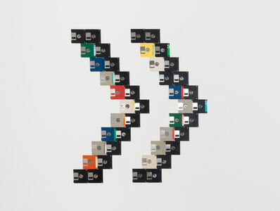 Floppy disks #1 (on wall)