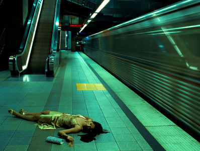 Untitled (Metro Series) (From High Fashion Crime Scenes)