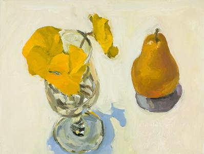 Pansies & Pear 16 Nov 2011