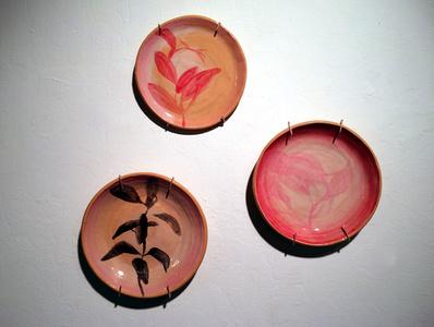 Red Leaf, Pink Leaf, and Dark Leaf