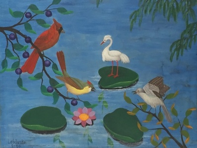 Birds in Pond