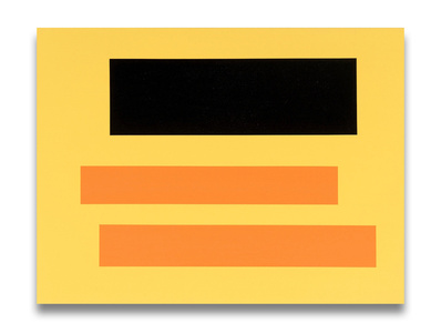 Decal (two orange bars over black)
