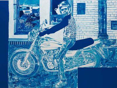 Autoritratto in Moto con Matisse e Braque (Neptunus)