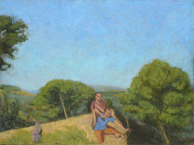 Boys Playing on a Cliff Top II