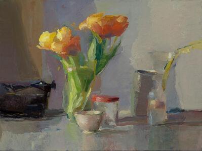 Tulips, Typewriter and Jars