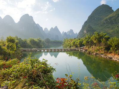 Yishan Island, The Bridge (Ten Thousand Waves)