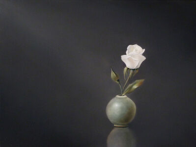 Korean Celadon with White Rose