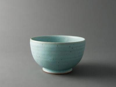 Spinach bowl, barium - feldspathic glaze
