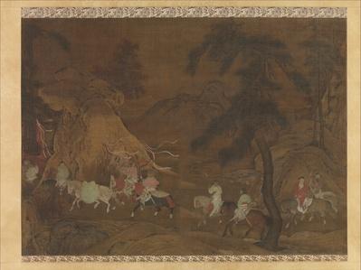 Emperor Xuanzong's Flight to Shu (南宋 佚名 明皇幸蜀圖 軸)