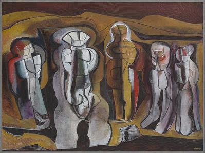 'Figures in a metaphysical landscape'