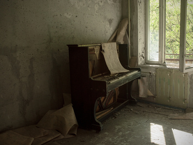 Field note 09-05-16-1 (Interior Pripyat, Chernobyl), from the series From the Pit of Et Cetera