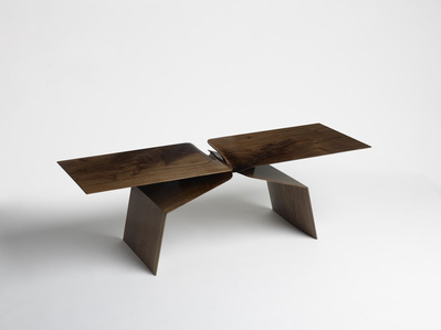 Sculptural Hand Carved Coffee Table