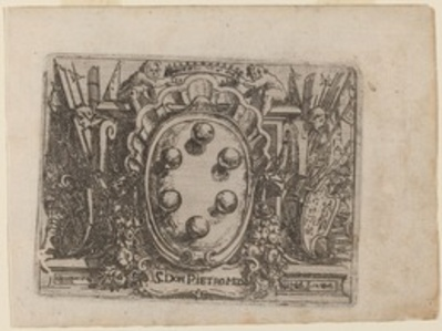 "Dedication to Don Pietro Medici from ""Bizzarie di varie Figure"""