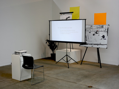 Five Proposals for Sight Gags (installation view)
