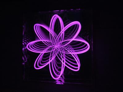 Organic Orbit (Flower), Curved, Right Corner