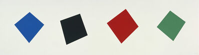 Ellsworth Kelly, 'Blue/Black/Red/Green', 2001