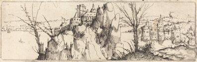Augustin Hirschvogel, 'Landscape with a Lake [top plate]', 1546