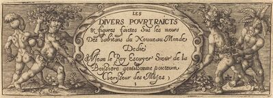 Master AD, 'Les divers pourtraicts et figures I (Title Page)', ca. 1600