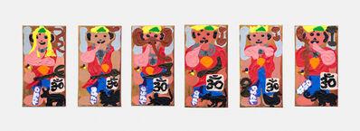 Philipp Schwalb, 'Nakki (Brahma) / Nakki (Vishnu) / Nakki (Shiva) / Nakki (Ganesha) / Nakki (Parvati) / Nakki (Lakshmi) mit Gegen-die-Kultur ', 2015