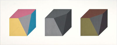 Sol LeWitt, 'Forms Derived from A Cube in Color (Simple & Superimposed) & Black/Grey (Plate #02)', 1984