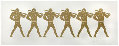 Cleon Peterson, 'CLEON PETERSON - The Marchers (White)'