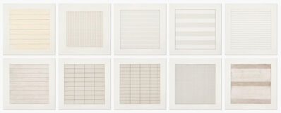 Agnes Martin, 'Paintings and Drawings', 1990
