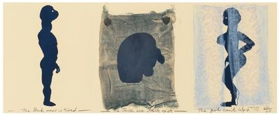 Marlene Dumas, 'The black man is tired, the jewish nose doesn't exist, the girl can't help it', 1993