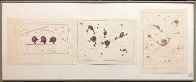 David Stoltz, 'Pop Art Whimsical Cartoon Oil Stick Drawing Baby Charlie Sculpture Soho Artist', 1980-1989