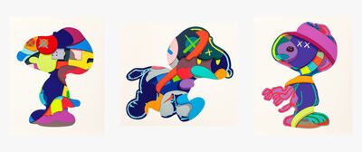 KAWS, 'No One's Home; Stay Steady; The Things That Comfort (three works)', 2015