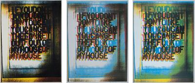 Christopher Wool, 'My House I; My House II; My House III', 2000