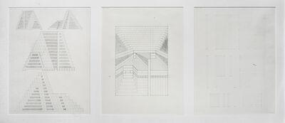 Jackie Ferrara, 'Three-Part Study For Unexecuted A175', 1977
