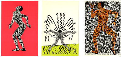 Keith Haring, 'Keith Haring Into 84 (set of 3 announcements)', 1983