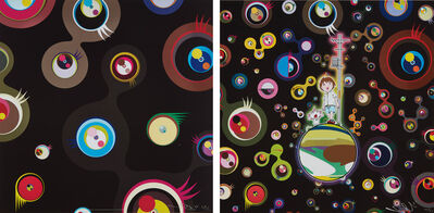 Takashi Murakami, 'Jellyfish Eyes - Black 2; and Jellyfish Eyes', 2004 and 2013