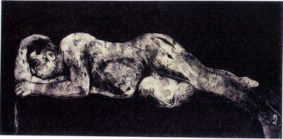 William Kentridge, 'Sleeper - Black', 1997
