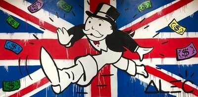 Alec Monopoly, 'Monopoly Running and UK Flag', 2018