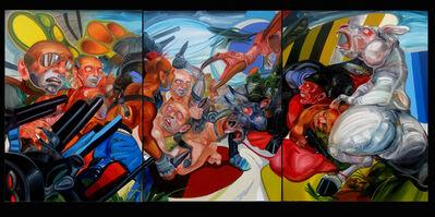 José Luis Carranza, 'La batalla entre los hombres y las bestias I, II, III', 2009