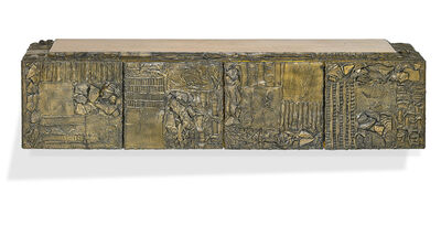Paul Evans, 'Custom Sculptured Metal cabinet, New Hope, PA', 1970s