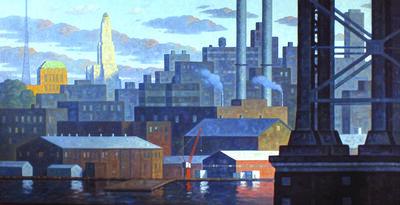 Robert Goldstrom, 'East River Panorama I', 2016