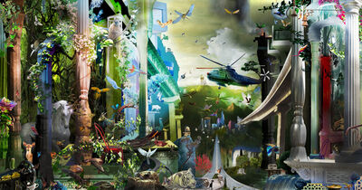 Ranbir Kaleka, 'Urban Utopia,Done Undone,Menaced by dragonflies', 2014