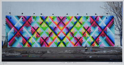 Maya Hayuk, 'Chem Trails (Bowery Wall) NYC', 2014