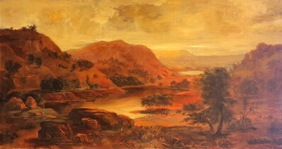 "Pamela Berkeley, 'Tribute to Duncanson's ""Valley Pasture""   ', 2003"