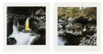 Andy Goldsworthy, 'Elm Leaves / Held Together with Water to Rock / Behind a Small Waterfall / Glen Marlin Falls, Dumfriesshire / 19 October, 2007', 2007