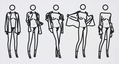 Julian Opie, 'Woman Taking Off Man's Shirt in Five Stages', 2004